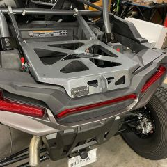 Universal clamp on spare tire carrier